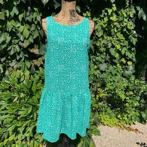 CUPCAKES & CASHMERE Drop-Waist Dress, M